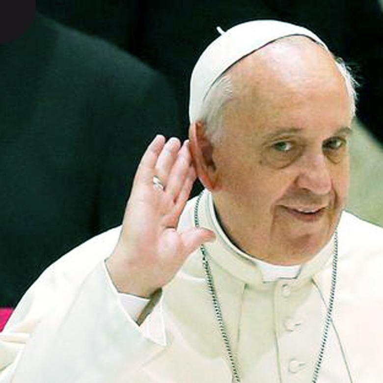 Папа хоче тебе почути